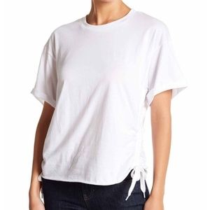 Kendall & Kylie Ruched Side Tee Size XS